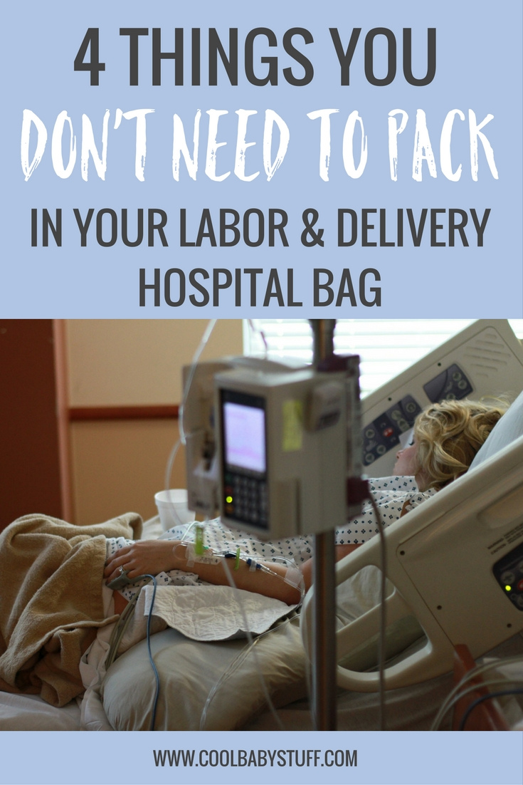 The countdown is on and it's time to get your hospital bag packed. Less is more, so here are a few items you DON'T need in your hospital bag.
