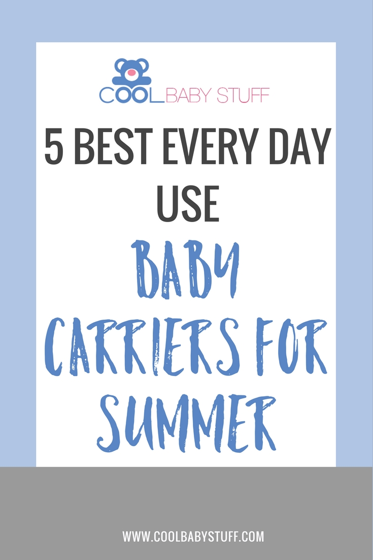 Comfortable baby carrying is possible in warmer months. These five baby carriers for summer make baby wearing easy even in the heat of summer.