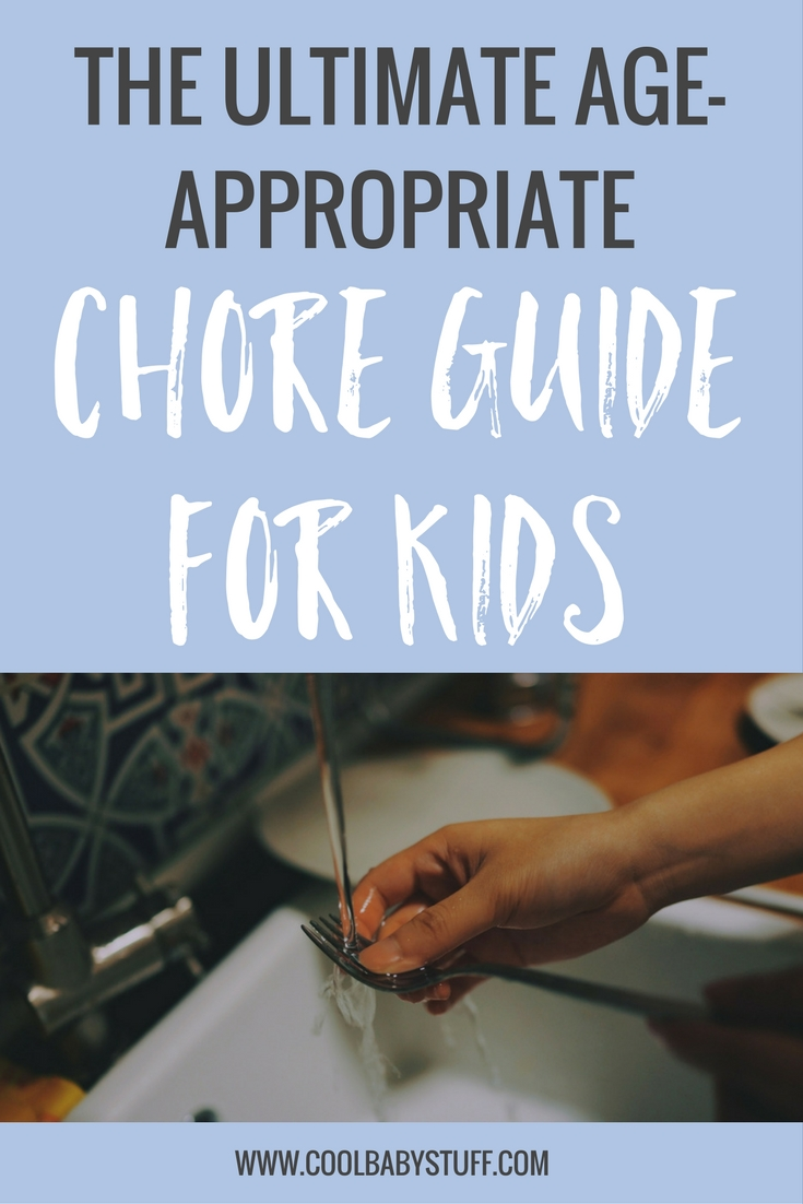 Have your kids help you around the house with this guide to age appropriate chores for kids from toddlers all the way throughout their middle school years.