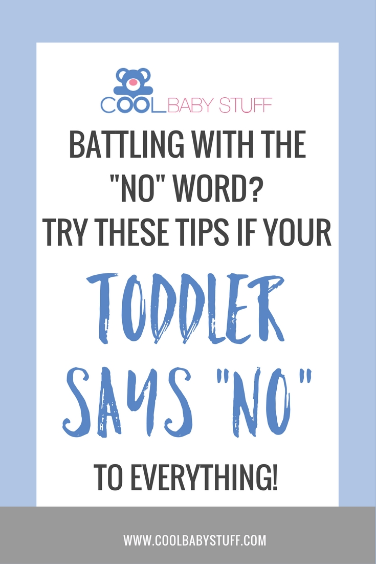 "If your toddler loves their new found word and you are constantly battling the angry ""no's, here are 4 things to try if your toddler says no to everything!"