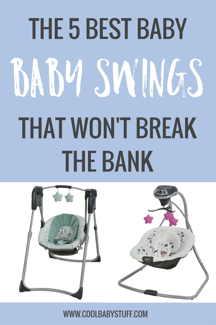 Budget friendly baby swings! If you're on the market for a cheap baby swing on a budget to keep your little one sleeping, here are the best baby swings that won't break the bank.