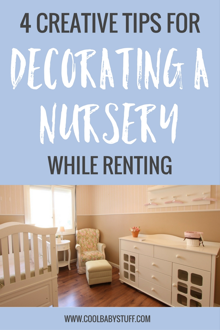 Get your crafts supplies out! Decorating a nursery while renting doesn't have to be hard! Grab your supplies as there are lots of quick, inexpensive, and fun ways to decorate a room.