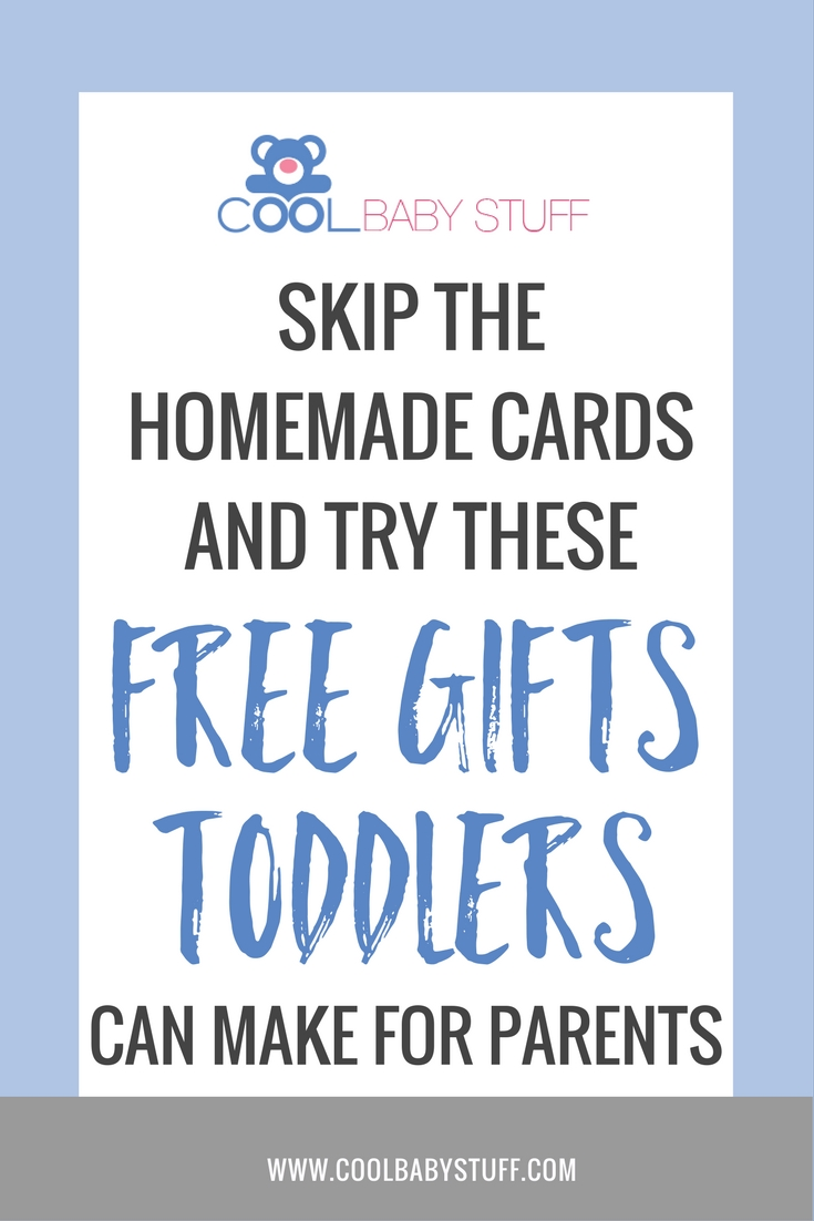 Instead of another homemade card, I decided to come up with a few ideas of gifts toddlers can make that would be more exciting and meaningful for all of us.