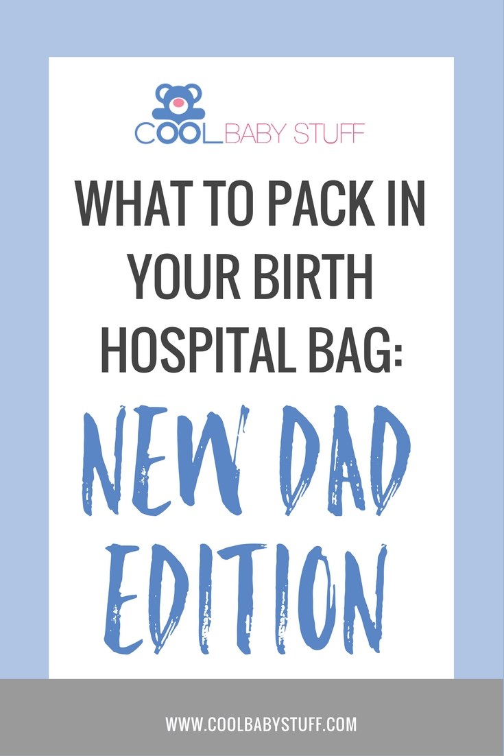If you're a dad, you will also need a new dad hospital bag! Here's a tried and true list for everything you need for an easy and comfortable stay.