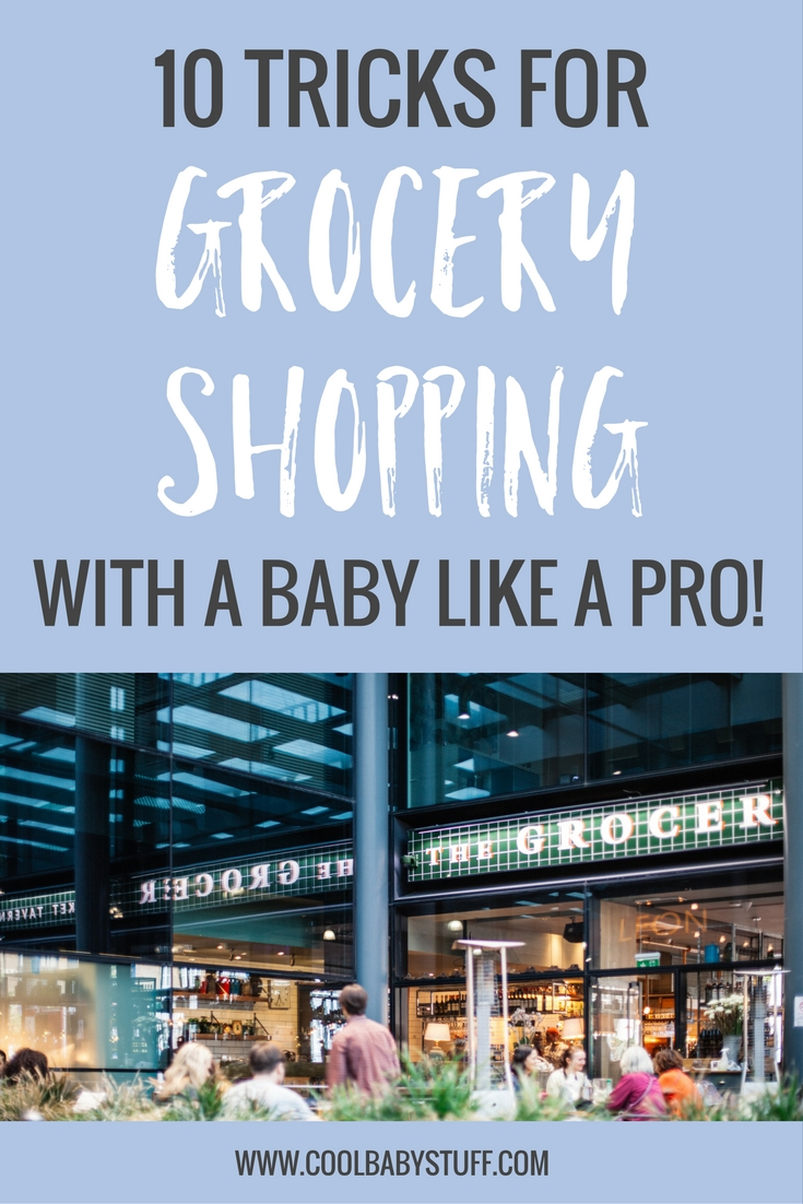 How to grocery shop with a baby. Utilizing some tips and having a plan can help you avoid some added stress and help make grocery shopping with a baby a success!