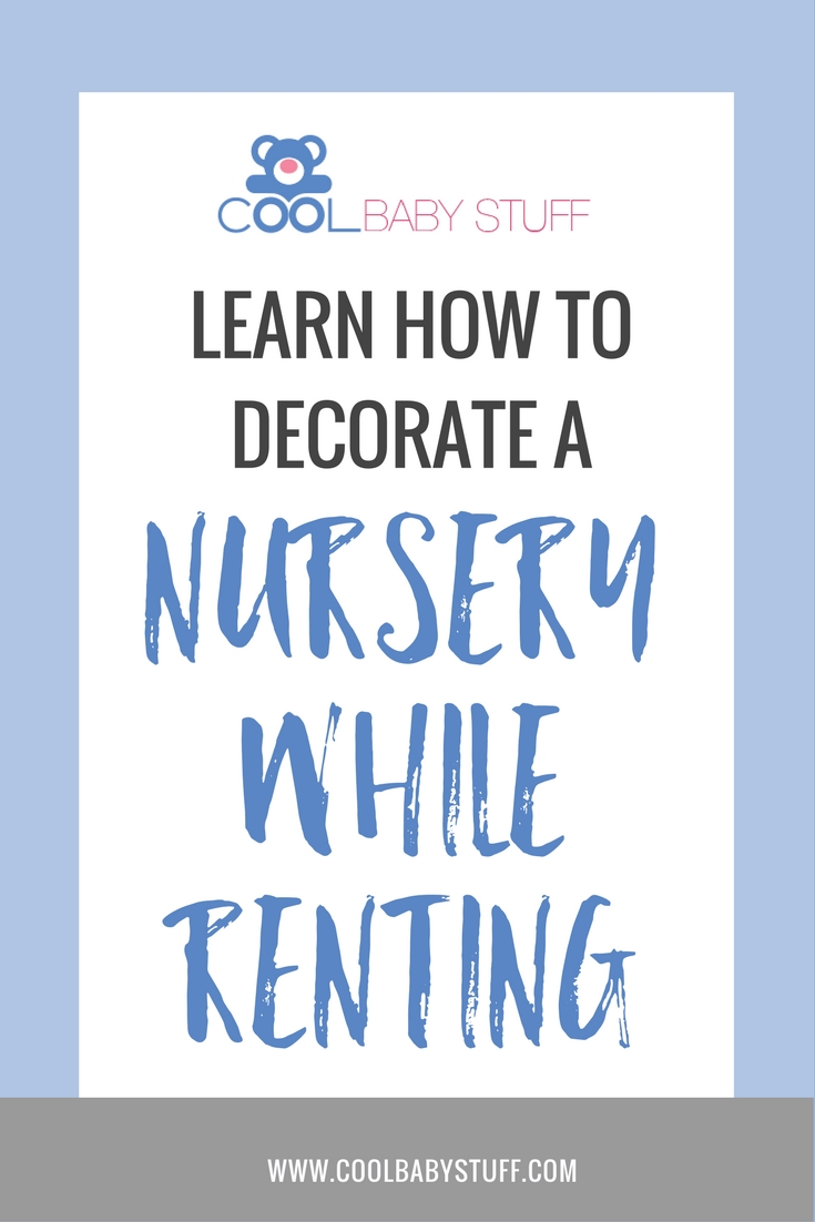 Decorating a nursery while renting doesn't have to be hard! Grab your supplies as there are lots of quick, inexpensive, and fun ways to decorate a room.