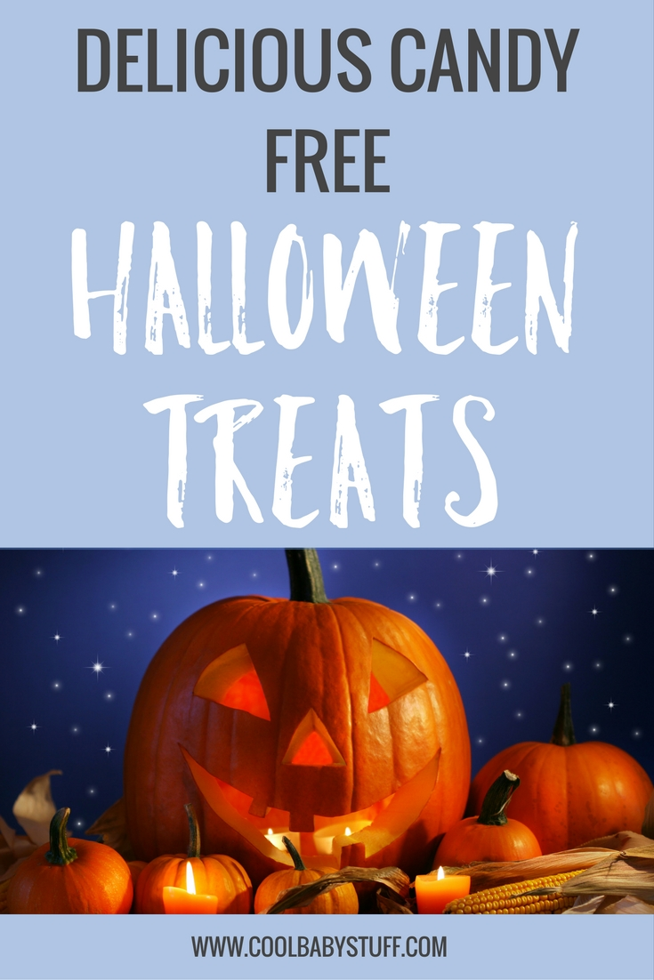 Here are candy free Halloween treats that make great alternatives to the traditional Halloween snack. For the office, Halloween party, or trick or treaters!