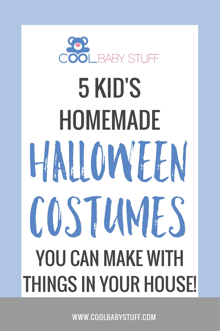 You'll love these DIY Halloween costumes for kids that you can make with popular household items. They're simple, easy to assemble and very inexpensive.