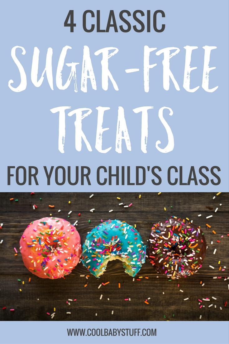 Sugar free treats are a great way for the kids to eating healthy, while having fun. Here are 4 classic sugar free treats for your child's class!