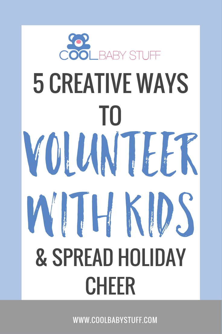 There are many reasons why it's difficult to volunteer with your kids. Here are a few simple ideas for volunteering while spreading holiday cheer.