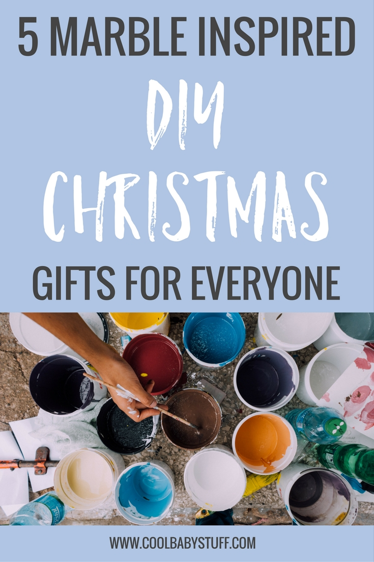 I was browsing DIY Christmas gifts online and found so many beautiful marble inspired crafts that will totally impress your friends and family.