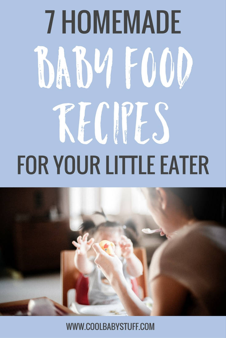 You can buy some great baby foods, but it's also a great idea to make your own homemade baby food recipes. The options for homemade baby food are endless!